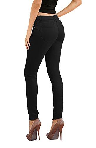 Women's Butt Lift Stretch Denim Jeans P37375SK Black 7