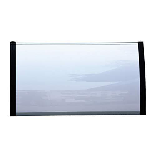Deurluifel PC polycarbonaat luifel regen shelter deur Canopy luifel venster regen beschermende afdekking voor porch - 6 maten 60×80cm