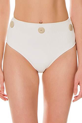 RESET PRIORITY Women's Pure High Waist Bikini Bottom Pure M