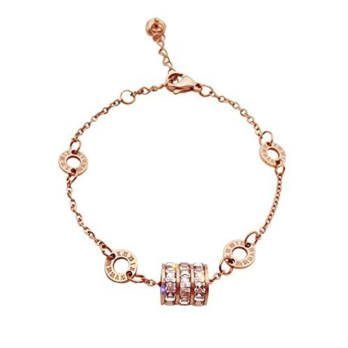 Qingxin Numeral pulsera de acero de titanio material no se descolora personalidad joyería regalos para niñas