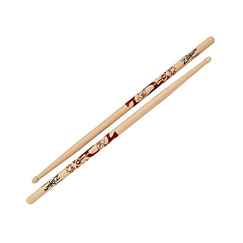 "The new Dave Grohl Artist Series Drumstick model also features large dimensions, a length of 16-3/4"" and diameter of .600"" for extra power and reach as well as an acorn-shaped tip for sound clarity. Crafted from 100% U.S. Select Hickory, the preferred wood for drum set sticks, its overall design is especially well suited for Rock applications where power, rebound, and durability are critical. According to John Sorenson, Zildjian's Director of Sales Planning and Drumsticks, ""Dave blends his own powerful technique with the styles of the influential drummers of the past to push the limits of music. He truly embodies what it means to be a great drummer."""