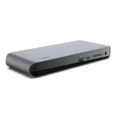 Belkin Thunderbolt 3 Dock Pro w/ 2.6ft Thunderbolt 3 Cable (Thunderbolt Dock for macOS and Windows) Dual 4K @60 Hz, 40 Gbps Transfer Speeds, 85 W Upstream Charging