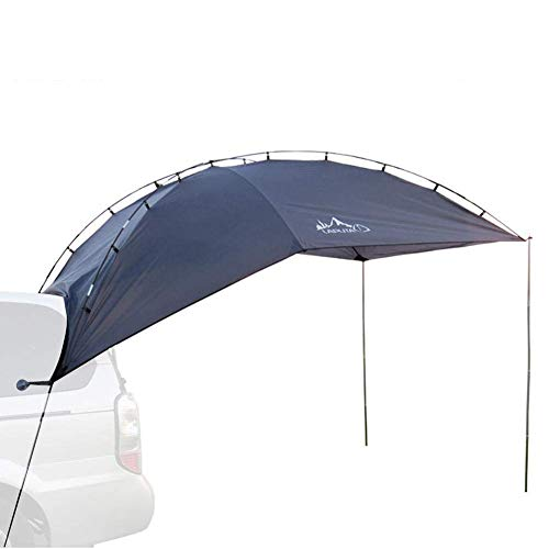 LCZ Car Awning Sun Shelter Portable Car Canopy Camper Trailer Tent Tailgate Awning Tent Roof Top for Camping, Outdoor,Blue