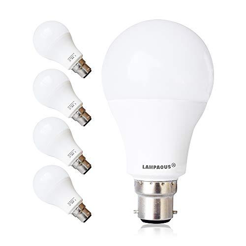LAMPAOUS LED G60 B22 12W, Cool White 6000 K, entspricht 100 W Glühlampen, LED-dimmbare Bajonettfassung.
