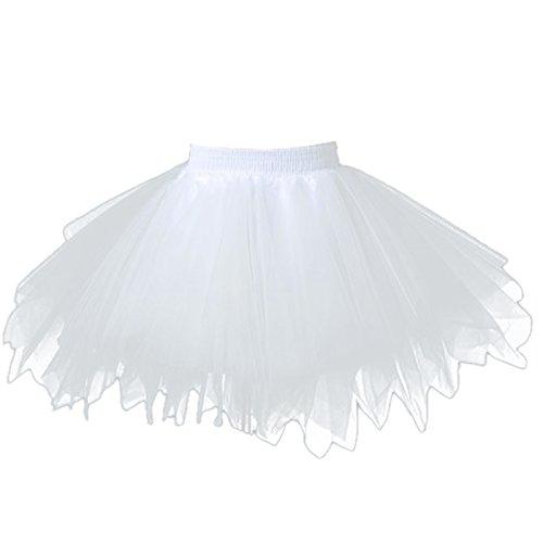 Feoya FEOYA Mädchen Kinder Tüllrock Retro Ballettrock Petticoat Tanzkleid Party Tuturock Ballettkleid Tütü Cosplay Unterrock Ballett Verkleiden