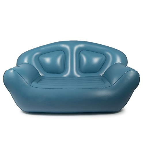 Milliard Inflatable Couch/Air Sofa – Perfect Lounger for Camping, Beach and Home (Blue)