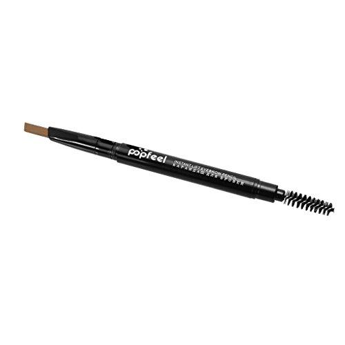 GOTTING encabezados por doble sombreado Sweatproof larga duración del maquillaje automática lápiz de ceja de color pluma de la ceja la cabeza de la pluma café claro