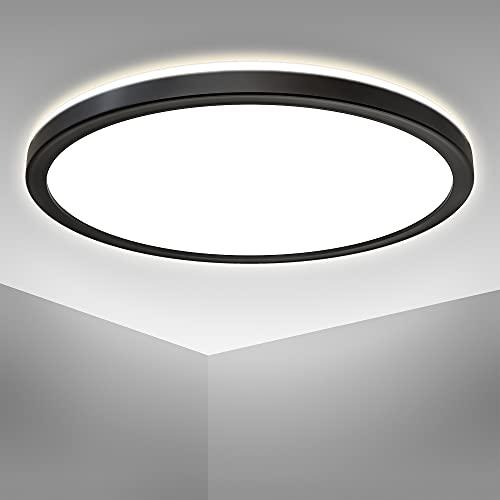 B.K.Licht 18 Watt LED Panel I 293x28mm DxH I Ultra Flach I Indirektes Licht I neutralweiße Lichtfarbe I 2.400lm I LED Deckenleuchte I Deckenlampe