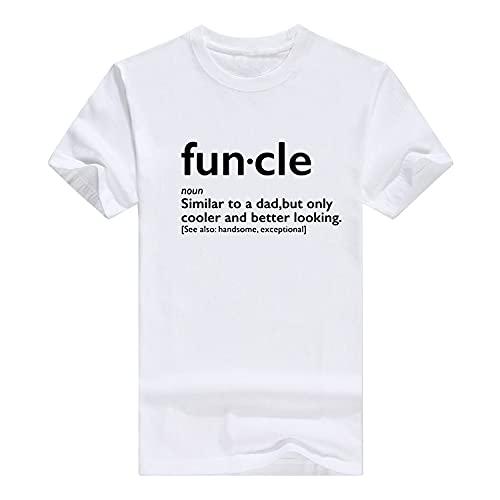 Llynice Funcle Gift for Uncle Graphic Novedad Sarcastic Mens Camiseta muy divertida, blanco, XL