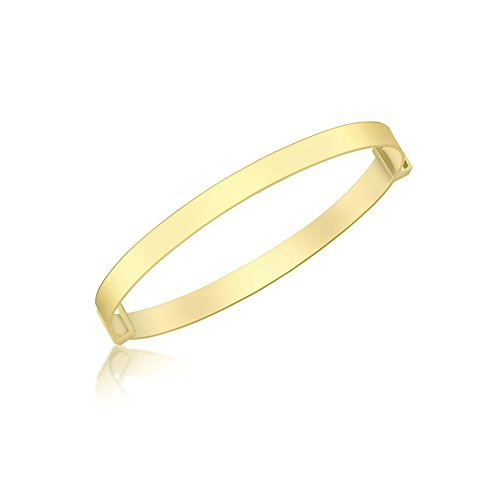 Carissima Gold Women's 9 ct Yellow Gold Plain Extendable Baby Bangle of Length 3.6-5 cm