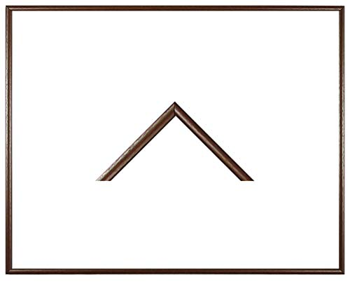RahmenMax Iowa Kunststoff-Bilderrahmen 58x83 cm Posterrahmen 83x58 cm Farbwahl jetzt: Braun mit 1 mm Acrylglas klar