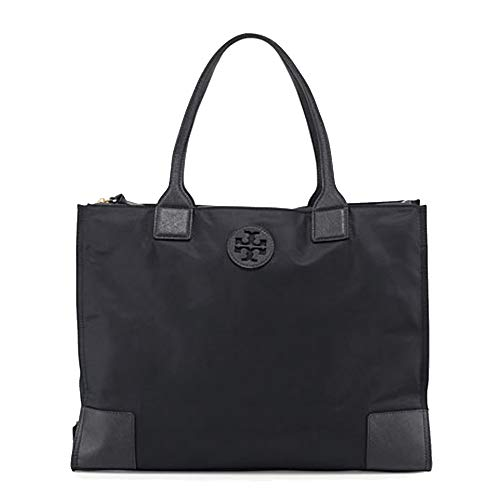 Tory Burch ella tote 55528 16' nylon (Black)