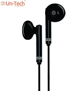 Gadgetbucket Un-Tech Wired in-Ear Headphone with 3.5mm Jack & Mic for All Smartphones Iphones-GH59 (Black)