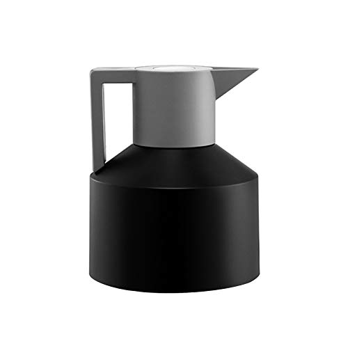 GJCrafts Insulated Coffee Pot, 1.5L Stainless Steel Thermal Carafe, Double Walled Vacuum Insulated Coffee Cup, for Tea, Coffee, Ice Drinks (Black)