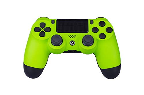 AimControllers PS4 Custom Wireless Controller, PlayStation 4 Personalisierter Controller Neon Green Shadow mit 4 Paddeln, Gaming Joystick, Dualshock 4, Gamepad [GAMING]