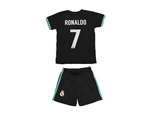 conjunto-kit Trikot Real Madrid Replica Offizielle Spieleredition Ronaldo Saison 2017–2018.–Größe 2, Zweite