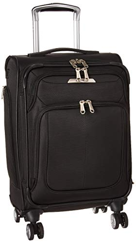 Samsonite SoLyte DLX Softside Luggage, Midnight Black, Carry-On