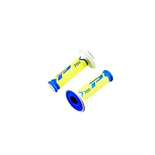 revetement/poignee progrip 788 Bleu/Jaune Fluo/Blanc (pr) Triple densite 115mm