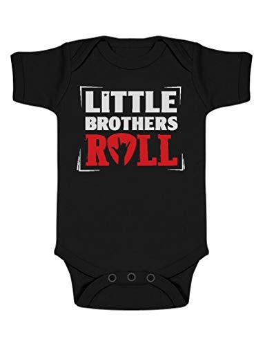 Little Bro Rock - Un Cadeau pour Le Petit frère Naissance Body Bébé Manche Courte 12-18 Mois Noir
