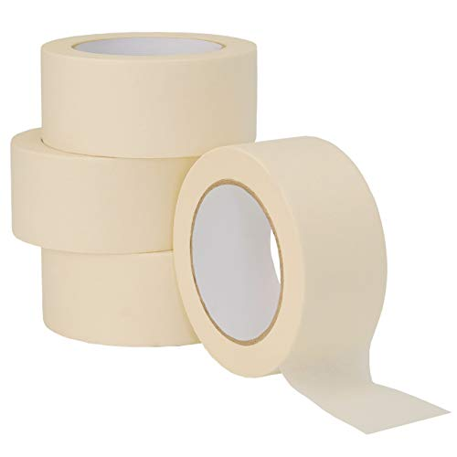 LICHAMP Wide Masking Tape 2 inches, White Masking Tape Bulk Multi Pack, General Purpose & High Performance, 1.95 inches x 55 Yards x 4 Rolls (220 Total Yards)