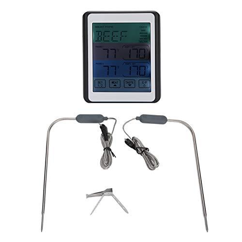 Velaurs Medidor de Temperatura de Alimentos, -30 ℃ -300 ℃ Termómetro de Alimentos LCD Digital, Carne para Barbacoa de Cocina casera