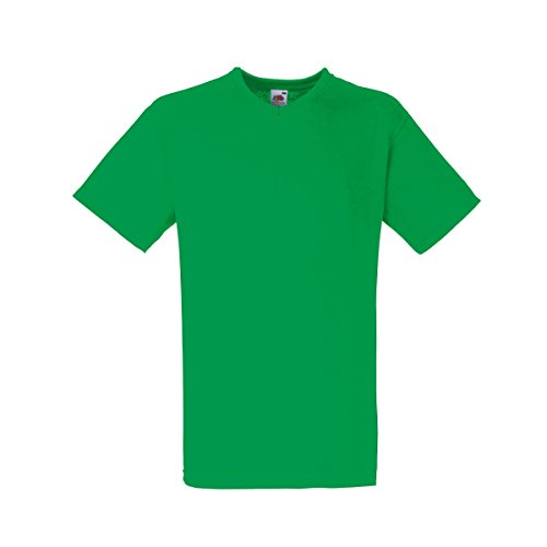 Fruit of the Loom Valueweight T-Shirt für Männer mit V-Ausschnitt, kurzärmlig (3XL) (Kellygrün)