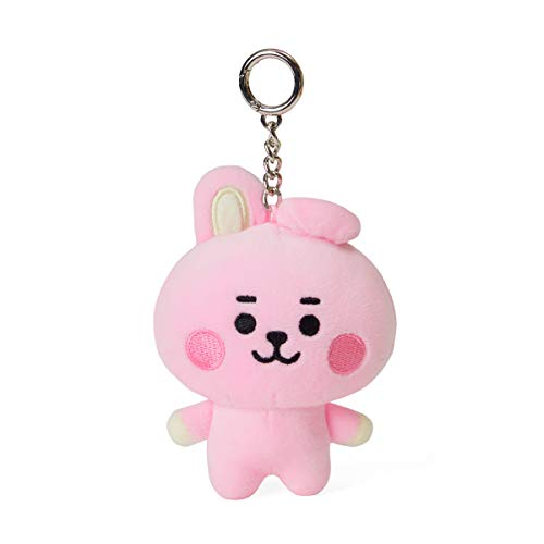 BT21 Baby Series COOKY Character Soft Plush Stuffed Animal Keychain Key Ring Bag Charm, 4.3 Inch, Pink