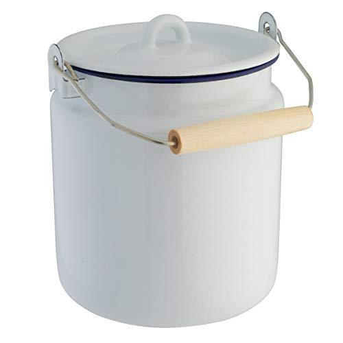 axentia emaillierte Milchkanne aus Stahl, Ø ca. 16 cm, Höhe ca. 20,5 cm, 3 ,5 l