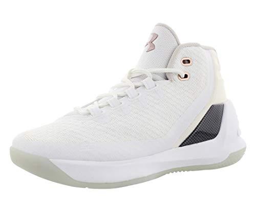 Under Armour Grade School Curry 3 Basketballschuhe (6,5 Jahre, Weiß/Weiß)