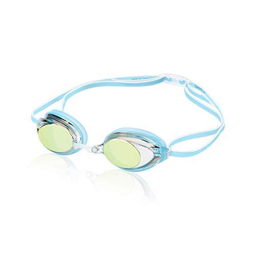 Speedo Women's Swim Goggles Mirrored Vanquisher 2.0 Blue, One Size