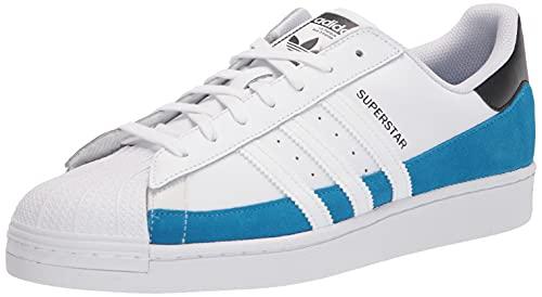 adidas Originals Superstar, Zapatillas Deportivas. Hombre, Azul Claro, Blanco y Negro, 44 2/3 EU