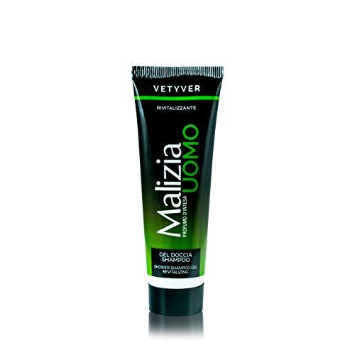 5Pack Malizia Uomo Vetyver Reise-Duschgel & Reise-Shampoo for men 5x 50ml