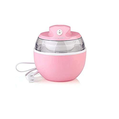 YILIAN Sweet Spot Instant Ice Cream Maker Pan, Mini Ice Cream Maker en Minutos Máquina de Hielo frita for Sorbete, Yogur, Helado, hogar, sin Necesidad de Electricidad (Color : Pink)