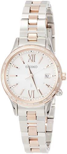 [セイコーウォッチ] 腕時計 ルキア ソーラー電波 ピンクグラデーション文字盤 SSVV036 レディース シルバー