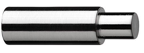 Tilldekor Trägerverlängerung für Gardinenstangenträger mit Ø 16 mm, edelstahl-optik, zusätzlicher Wandabstand 5 cm
