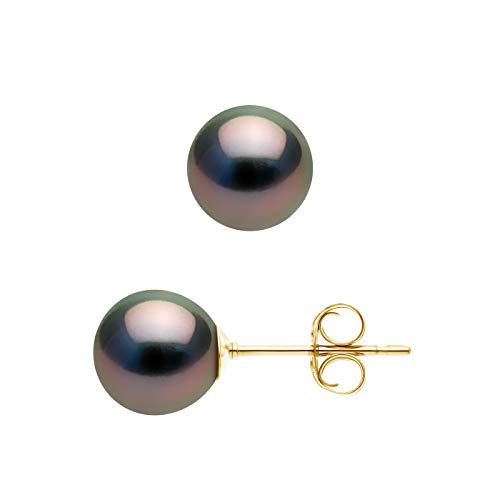 Pearls & Colors - Boucles d'Oreilles Prestige - Véritables...