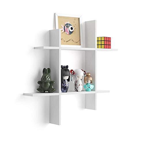 MOBILI FIVER, Wandboard Angelica, Esche, weiß #, Laminiert, Made in Italy