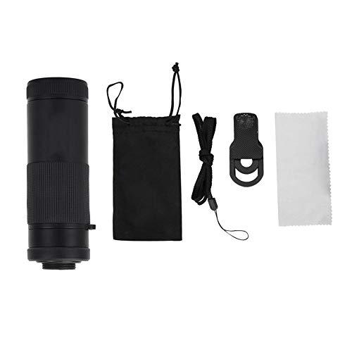 Oumij Verplaatsbare cameralens 8X20 telefoonclip met statief of telefoonclip voor monoculaire groothoek, macro, fisheye, oogmaskers of mobiele telescopen