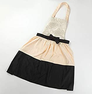 HANAOBI Aprons for Luxury Women Lovely Vintage Lady's Kitchen Fashion Flirty Women's Aprons Japanese Kimono from Japan,Cooking Salon Pinafore Vintage Apron Dress for Costume(Pink-1)