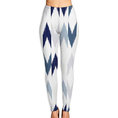 DmiGo Mallas Pantalones Deportivos Leggings,Diseño de Patrones sin Fisuras Chevron Ikat repitiendo,Mujer Pantalones de Yoga de Alta Cintura Elásticos para Yoga Running Fitness y Pilates M