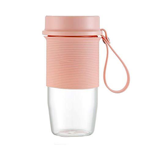 LDQLSQ Smoothie Blender, slijper en ijs-versnippermachine, ideaal voor smoothies, sappen, shakes, reizen, familie, sport, roze