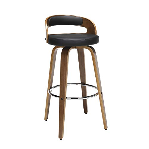 wood bar stools swivel - 8