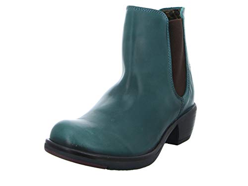 FLY London Damen MAKE Chelsea Boots Stiefel, Grün (Petrol 031), 42 EU
