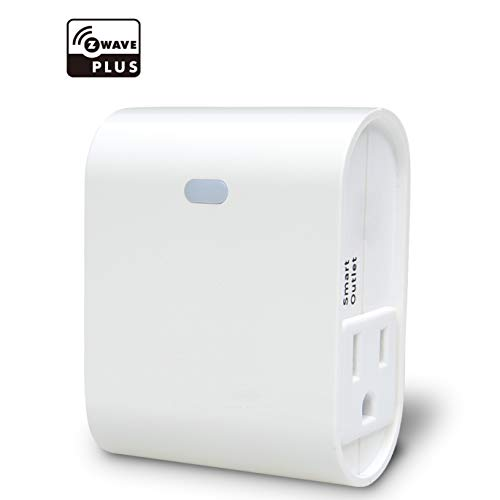 Z-Wave Plus Smart On/Off Light and Appliance Plug, Dual Outlet Plug-In, 1 Alway-On+ 1 Smart, Built-in Zwave Repeater, Zwave Hub Required, Works with SmartThings, Wink- ZW36