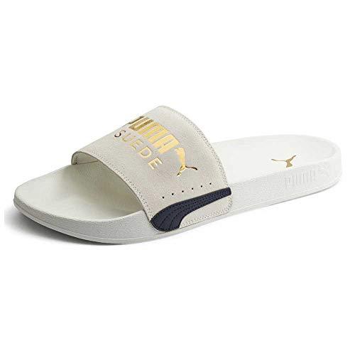 PUMA Leadcat FTR Suede Classic, Zapatos de Playa y Piscina Unisex Adulto, Gris (Marshmallow Team Gold Black), 40.5 EU