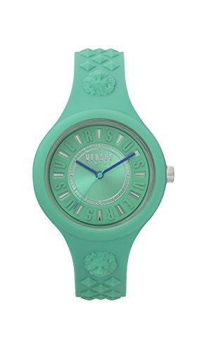 Versus by Versace Damen Analog Quarz Uhr mit Silikon Armband VSPOQ2718
