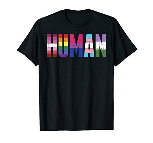 Human LGBT Lesbian Gay Bisexual Transgender Genderqueer Gift T-Shirt