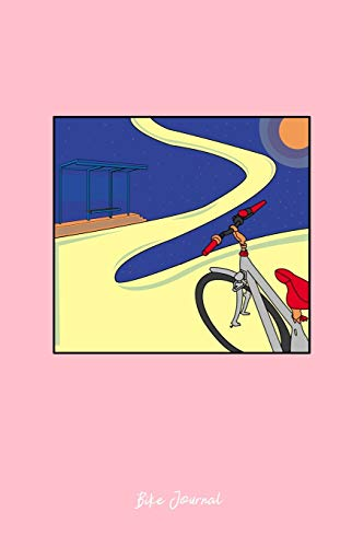 mountain bike galaxy Journal: Dot Grid Journal - Galaxy Biker Mountain Bike Planet Cute Christmas Gift - Pink Dotted Diary