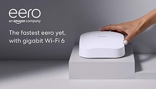 Introducing amazon eero pro 6 tri-band mesh wi-fi 6 router with built-in zigbee smart home hub 8 introducing the fastest eero ever - eero pro 6 covers up to 2,000 sq. Ft. With wifi speeds up to a gigabit. Say goodbye to dead spots and buffering - our truemesh technology intelligently routes traffic to reduce drop-offs so you can confidently stream 4k video, game, and video conference. More wifi for more devices - wi-fi 6 delivers faster wifi with support for 75+ devices simultaneously.
