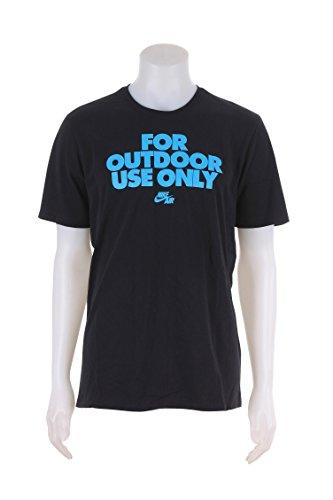 NIKE 778424-010 Men AF1 for Outdoor USE TEE Black/Black/Omega Blue